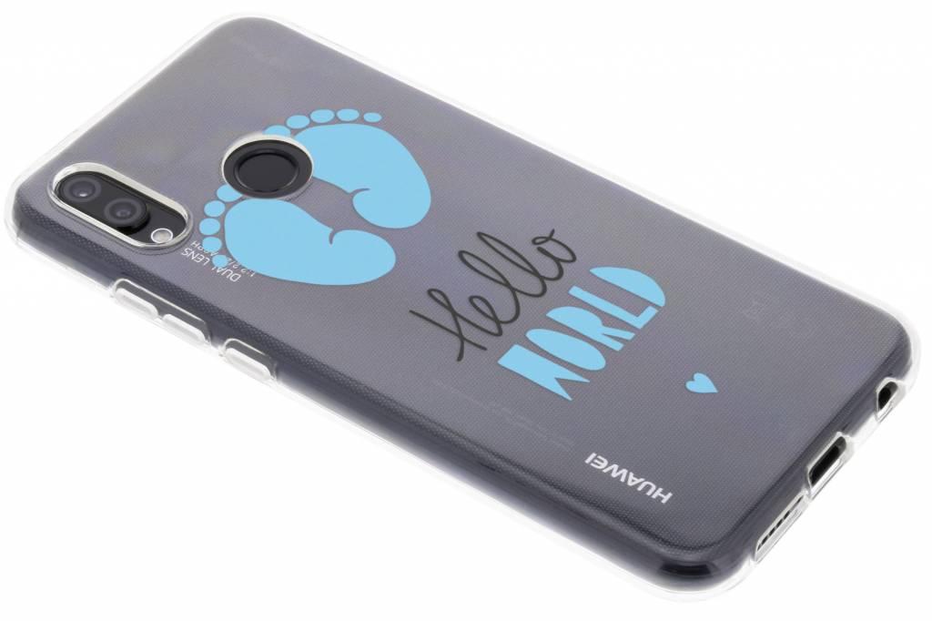 Baby blauw design siliconen hoesje voor de Huawei P20 Lite