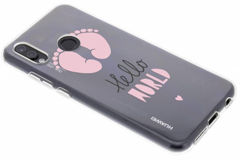 Baby roze design siliconen hoesje voor de Huawei P20 Lite