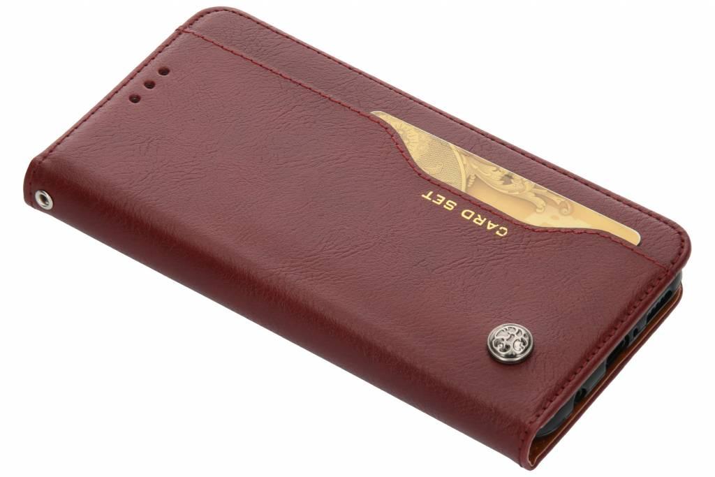 Bordeauxrode card set booktype hoes voor de Huawei Mate 20 Lite