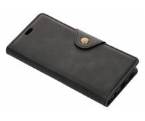 Zwart button booktype hoes Huawei Mate 20 Lite