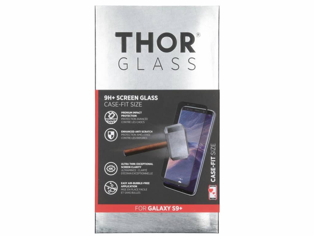 Zwarte 9H+ Case-Fit Glass Screen Protector voor de Samsung Galaxy S9 Plus
