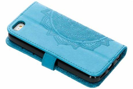 Mandala Booktype voor iPhone SE / 5 / 5s - Turquoise