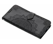 Zwart mandala booktype hoes Motorola Moto G6 Plus