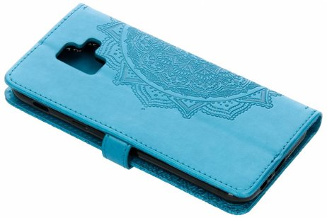 Mandala Booktype voor Samsung Galaxy A6 (2018) - Turquoise