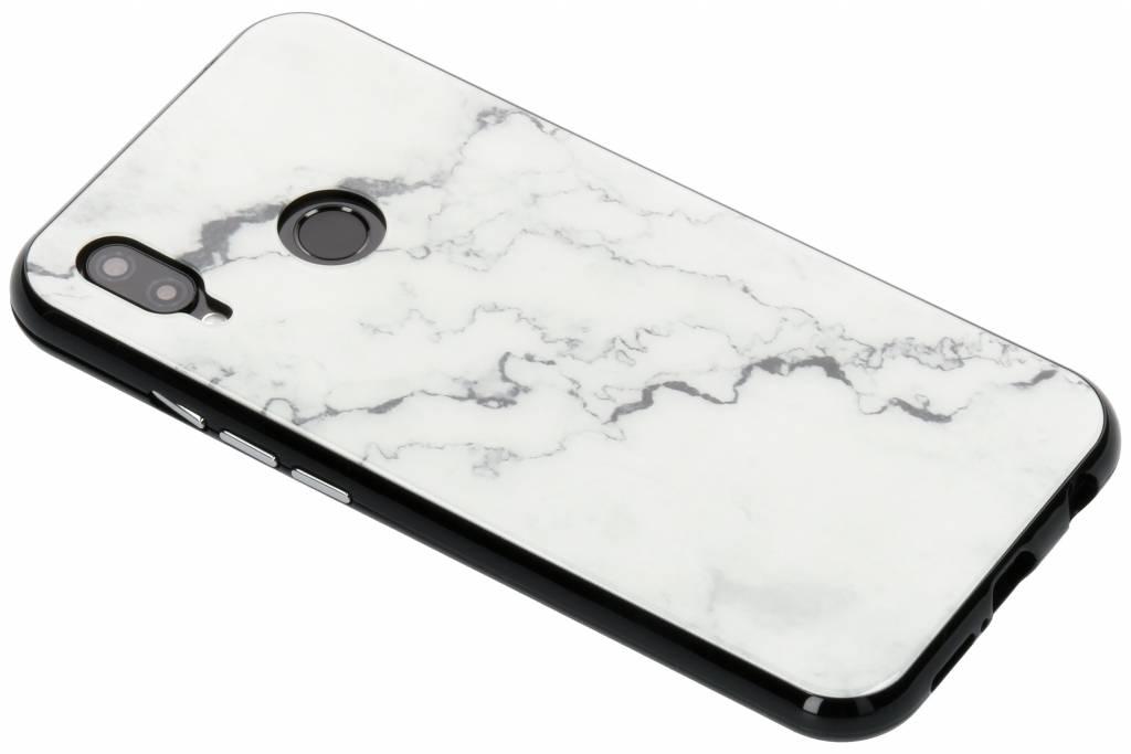 Selencia Wit marmer design magnetisch hoesje voor de Huawei P20 Lite