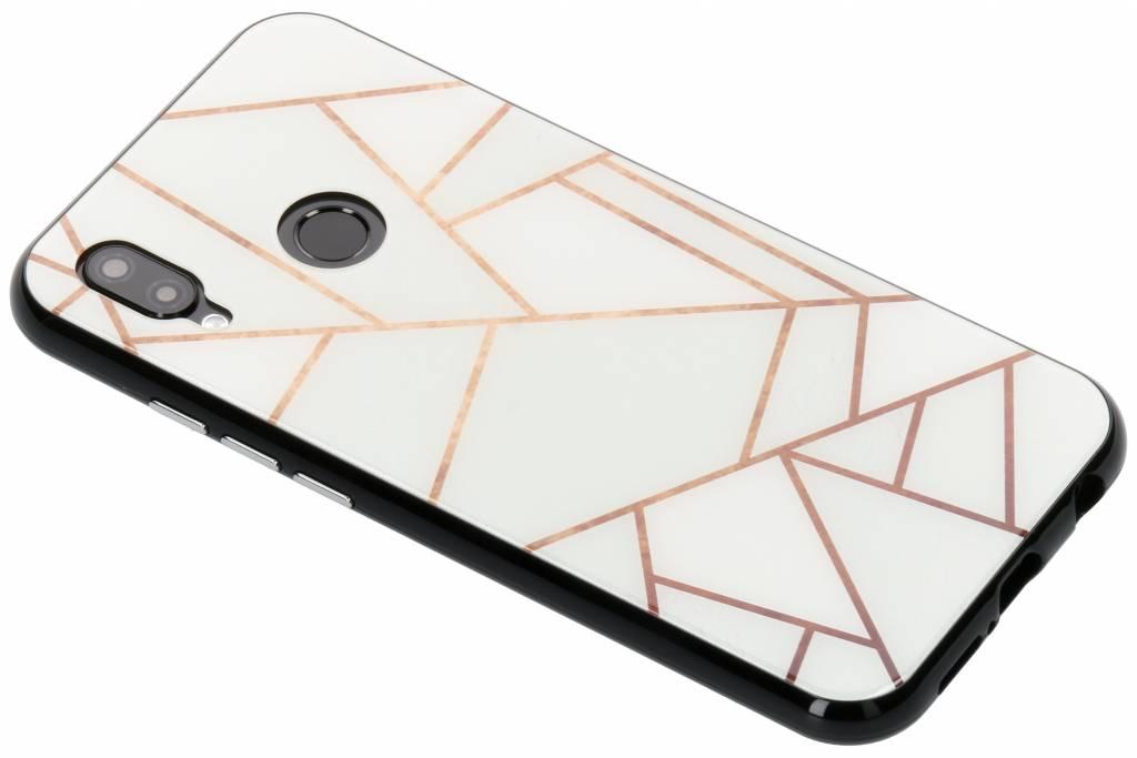 Selencia Wit grafisch design magnetisch hoesje voor de Huawei P20 Lite