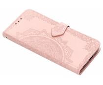 Roze mandala booktype hoes Motorola Moto G6
