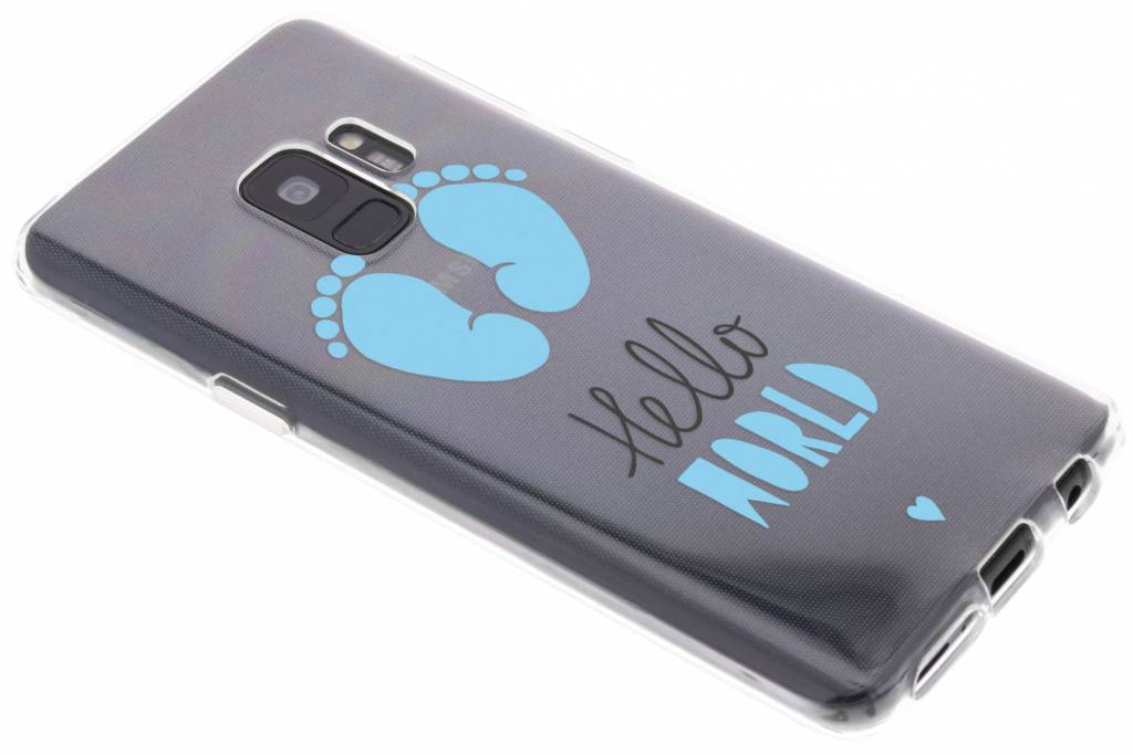 Baby blauw design siliconen hoesje voor de Samsung Galaxy S9