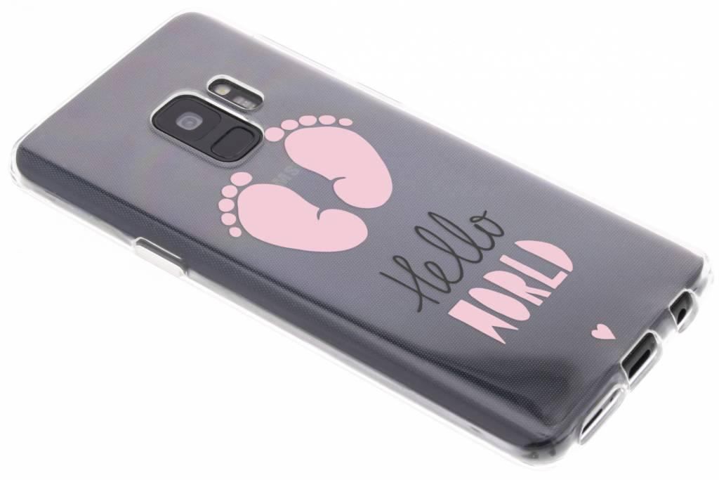 Baby roze design siliconen hoesje voor de Samsung Galaxy S9