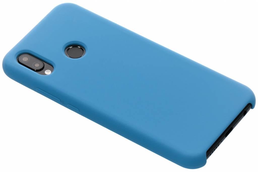 Blauwe soft touch siliconen case voor de Huawei P20 Lite
