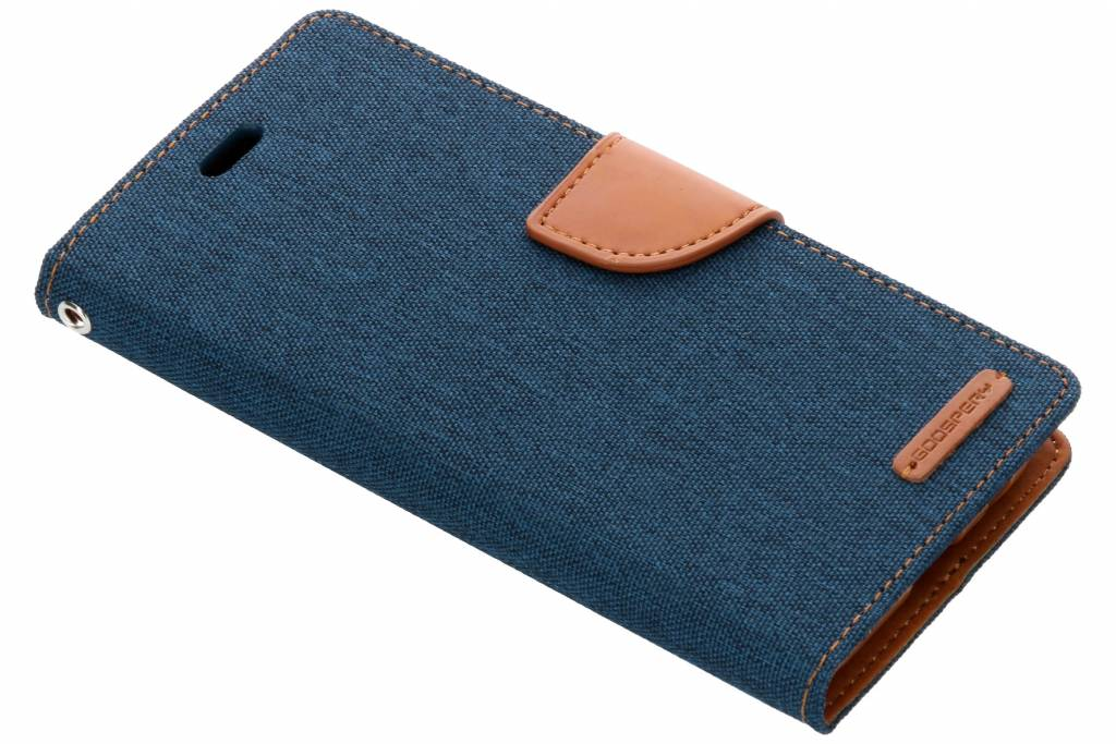 Mercury Goospery Canvas Diary Booktype voor Samsung Galaxy J6 - Blauw