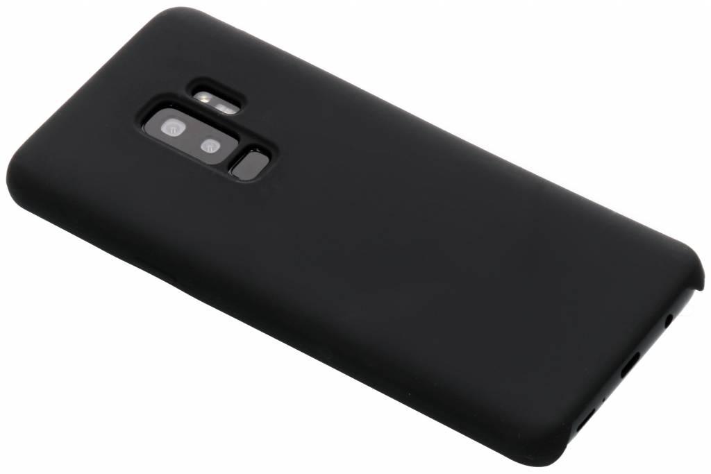 Zwarte soft touch siliconen case voor de Samsung Galaxy S9 Plus