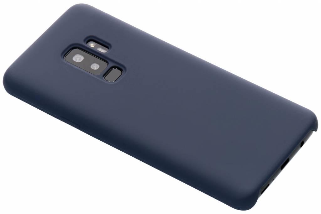 Donkerblauwe soft touch siliconen case voor de Samsung Galaxy S9 Plus