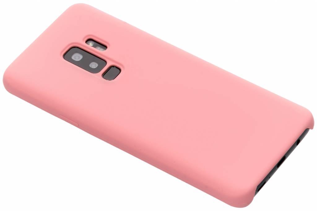 Roze soft touch siliconen case voor de Samsung Galaxy S9 Plus