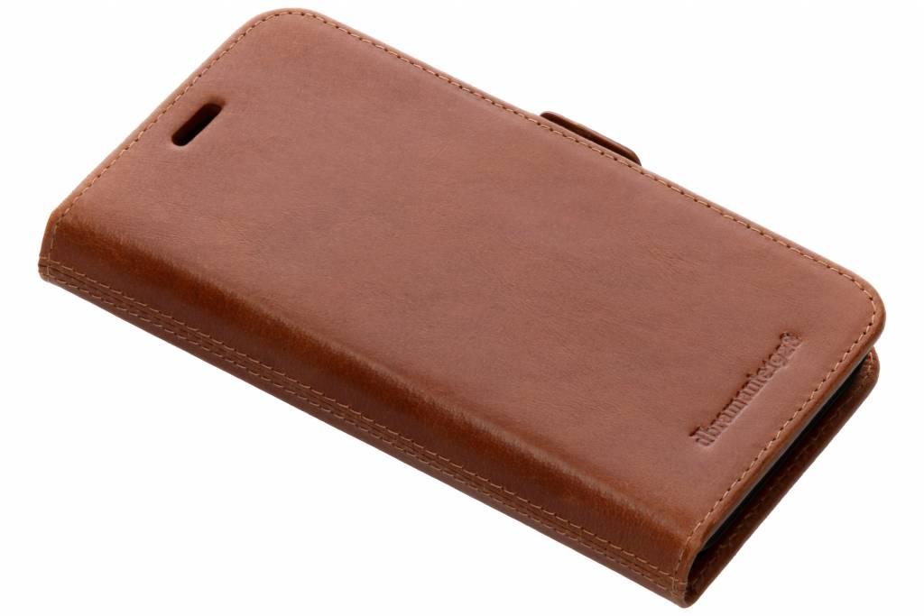 dbramante1928 Bruine Lynge Book Case voor de iPhone Xr