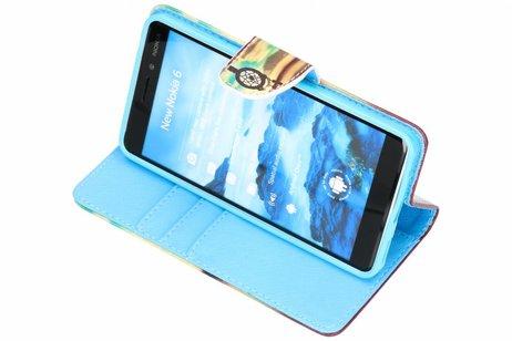 Nokia 6.1 hoesje - Design Softcase Booktype voor