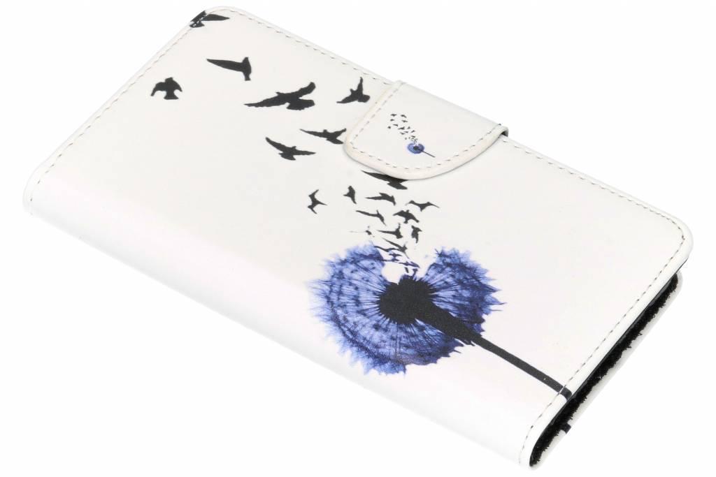 Paardenbloem design TPU booktype hoes voor de Nokia 6.1