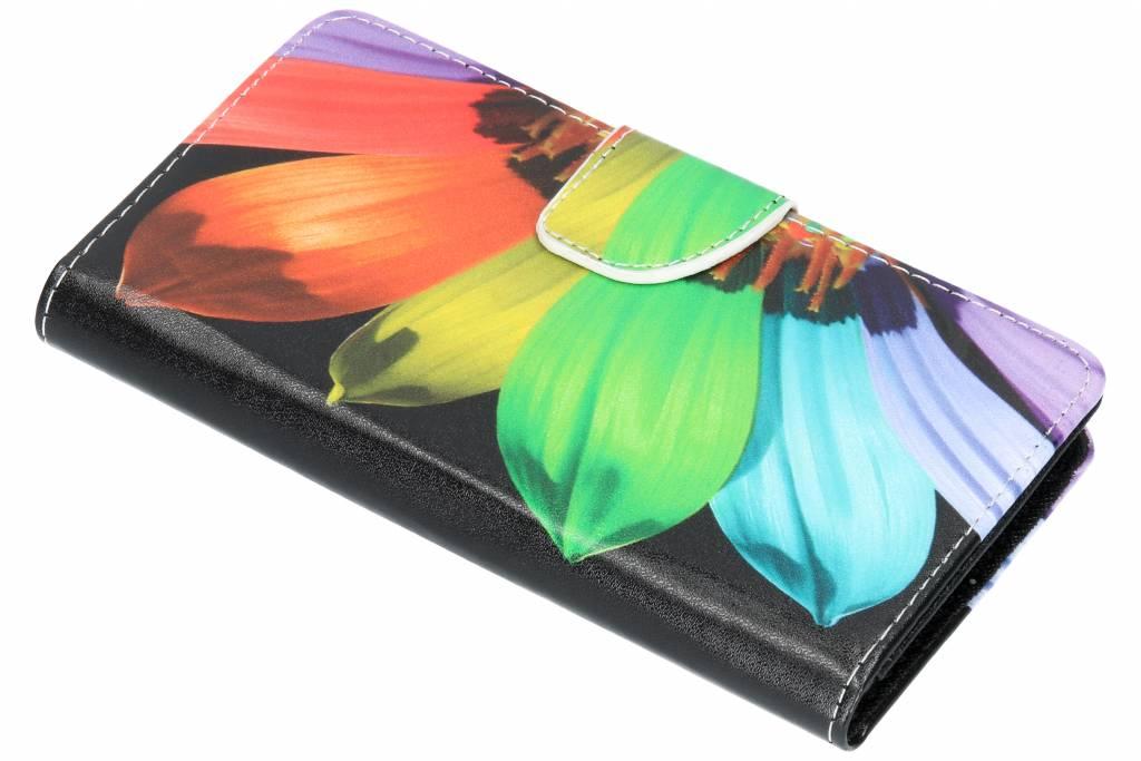 Regenboog design TPU booktype hoes voor de Nokia 6.1