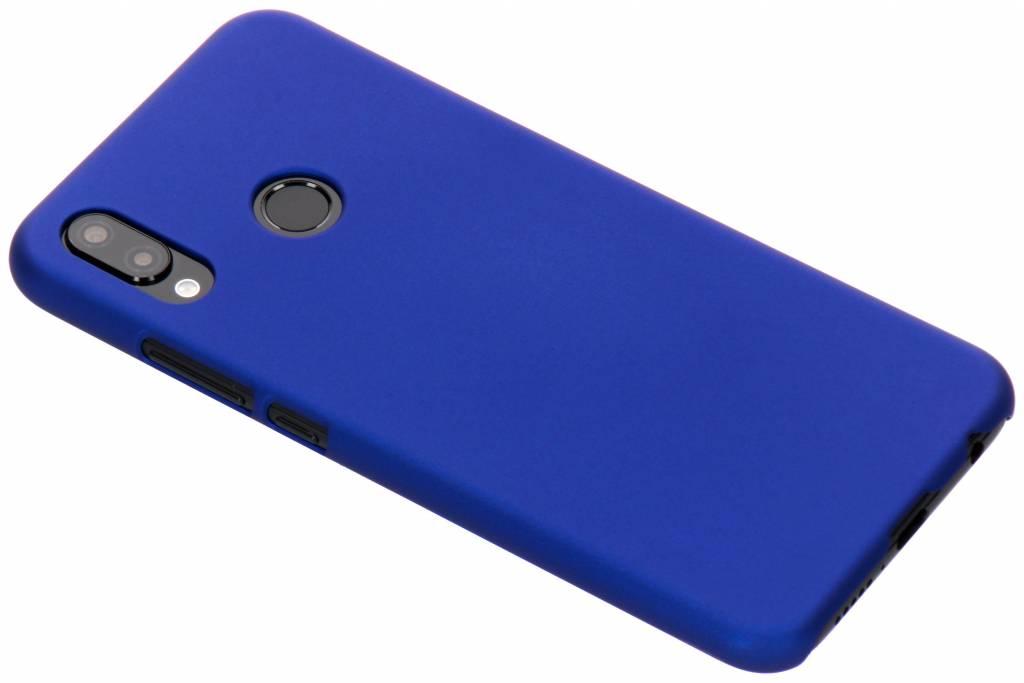 Blauw effen hardcase hoesje voor de Huawei P20 Lite