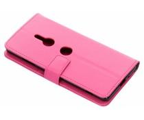Roze TPU Bookcase Sony Xperia XZ3