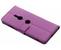 Paars TPU Bookcase Sony Xperia XZ3