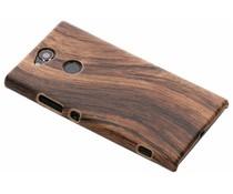 Donkerbruin hout design hardcase hoesje Sony Xperia XA2