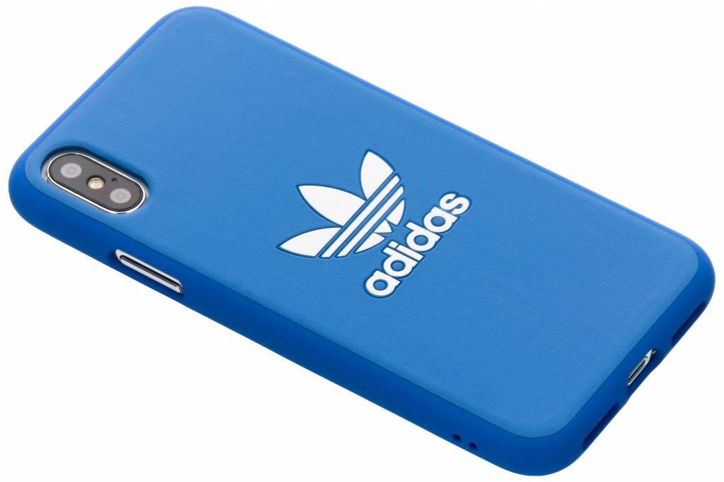 adidas Originals Blauwe Basics Moulded Cover voor de iPhone Xs / X