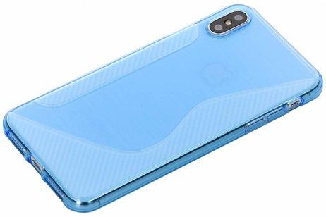 S-line Backcover voor iPhone Xs Max - Blauw