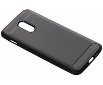 Zwart brushed TPU case OnePlus 6T