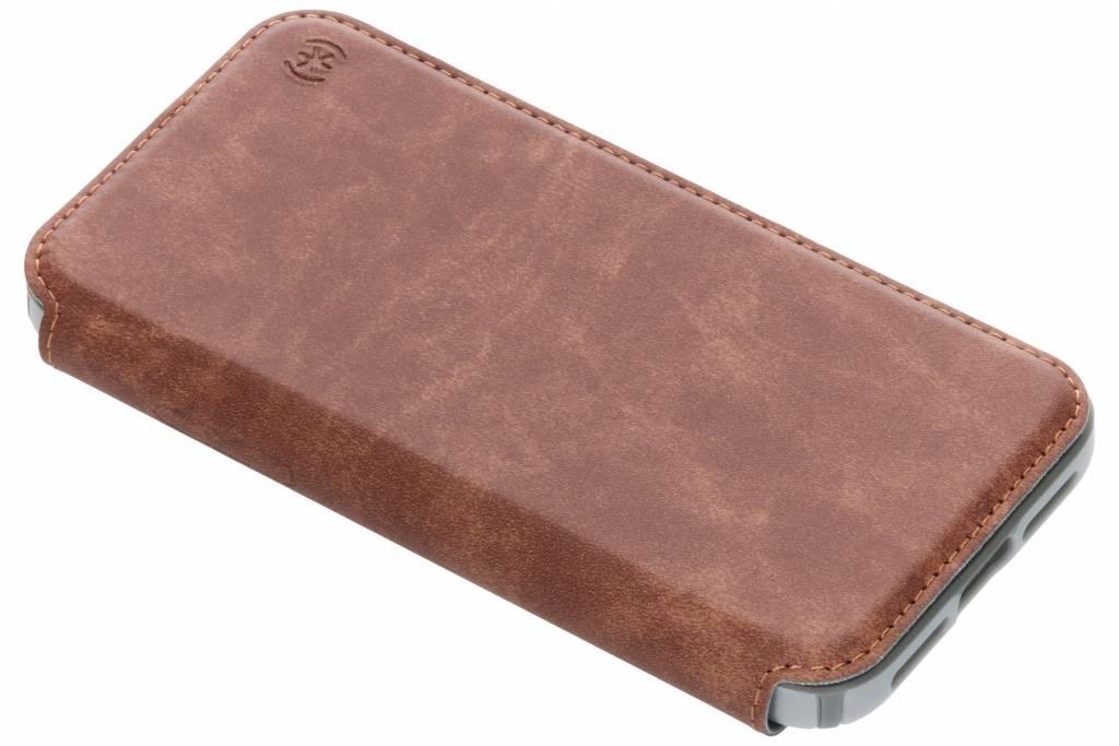 Speck Bruine Presidio Folio Leather Case voor de iPhone Xs / X