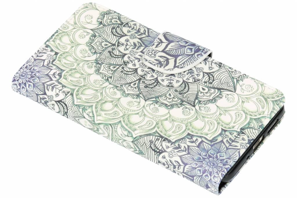 Blauwe mandala design TPU booktype hoes voor de Huawei P10 Lite