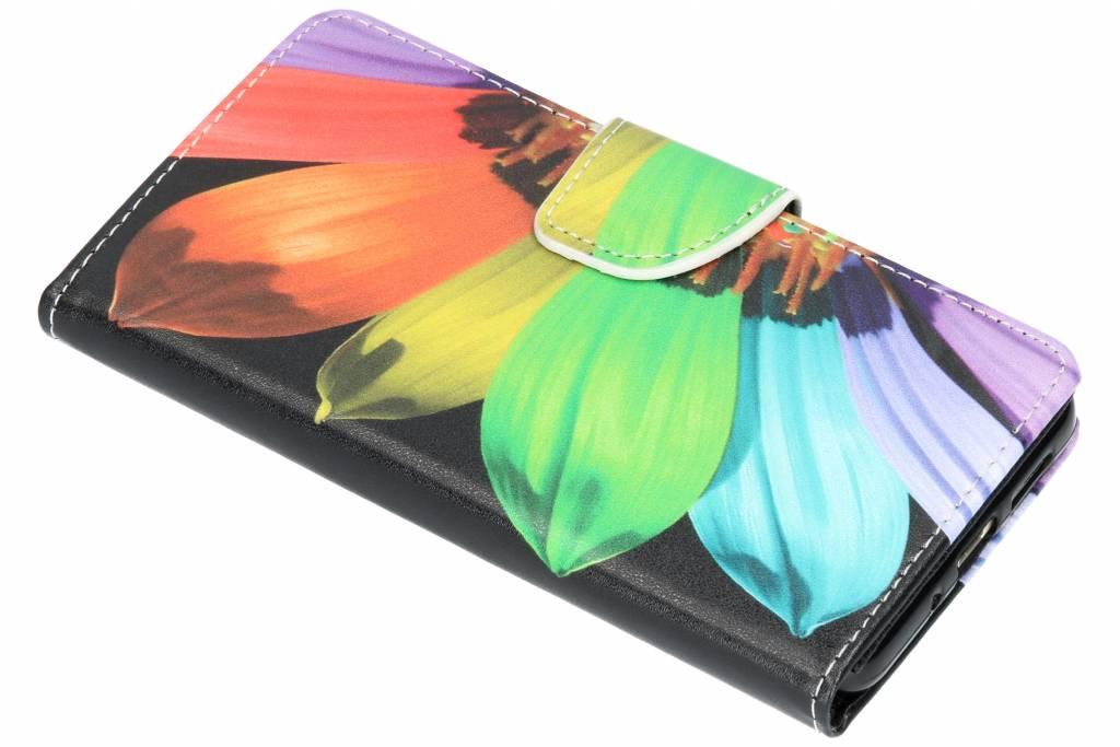 Regenboog design TPU booktype hoes voor de Huawei P10 Lite