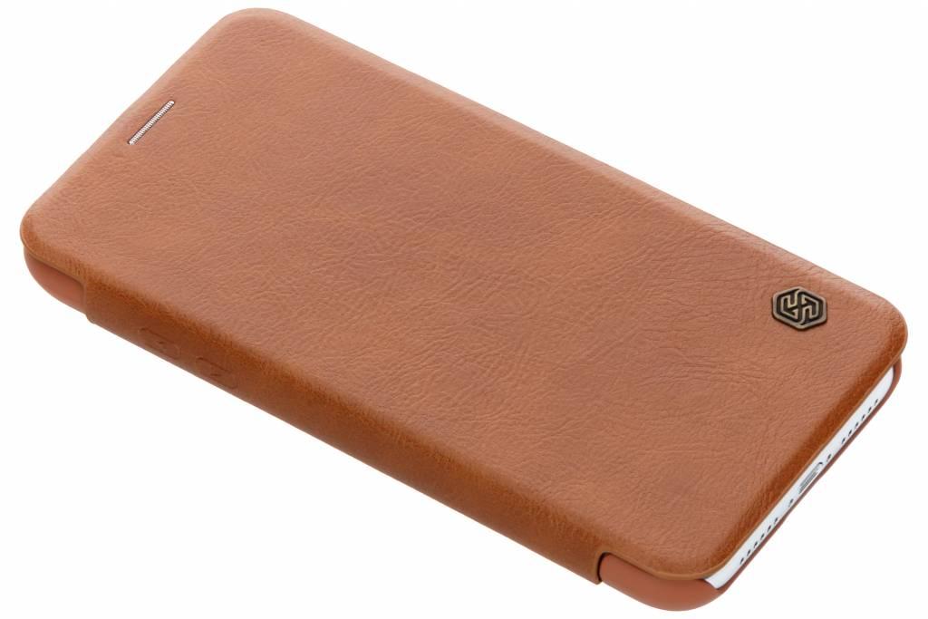 Nillkin Bruine Qin Leather slim booktype voor de iPhone Xr