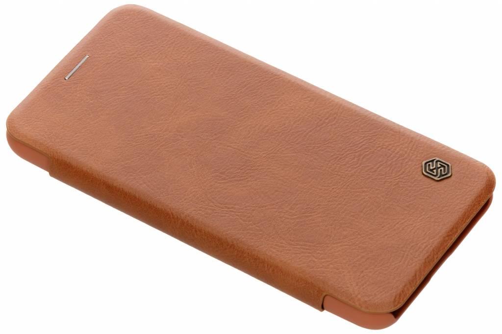Nillkin Qin Leather Slim Booktype voor Xiaomi Pocophone F1 - Bruin
