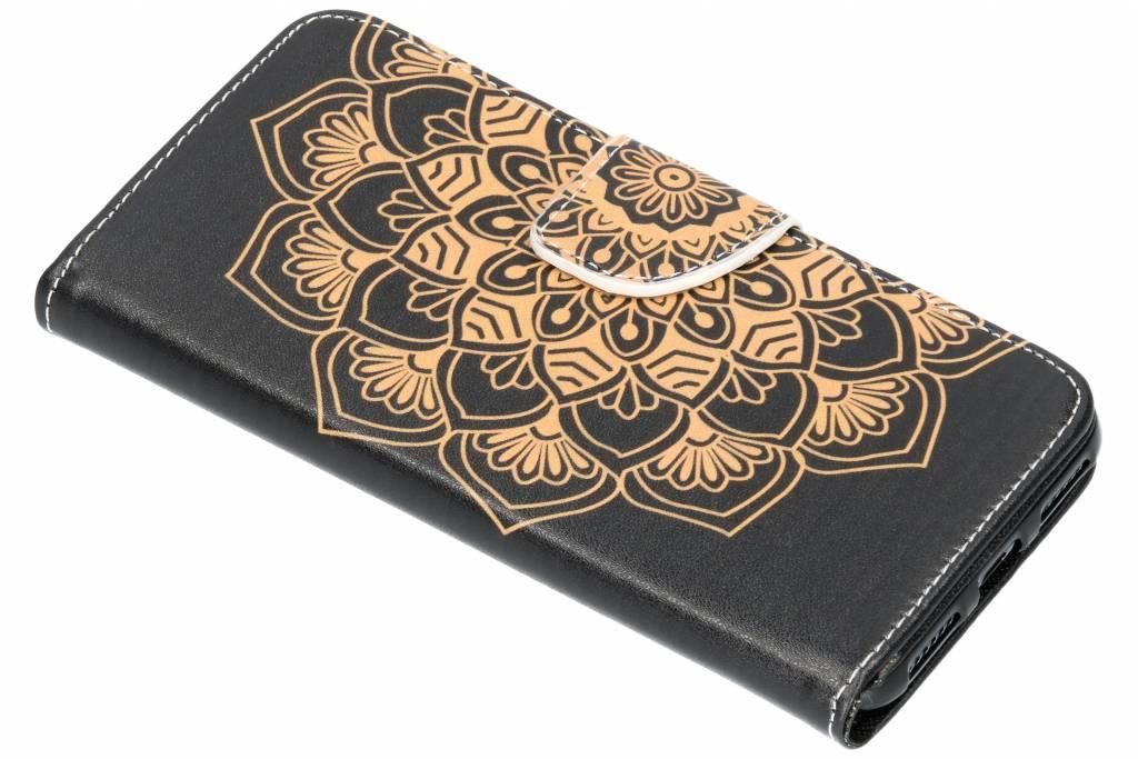 Mandala design TPU booktype hoes voor de Huawei Y6 (2018)