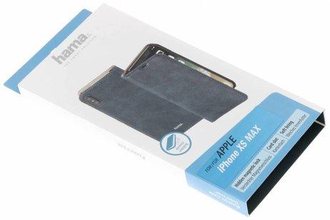 Hama Guard Booktype voor iPhone Xs Max - Blauw