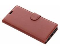 Bruin litchi booktype hoes Xiaomi Pocophone F1
