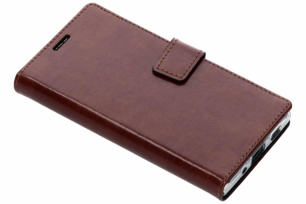 Valenta Bruine Booklet Leather voor de Sony Xperia XA2