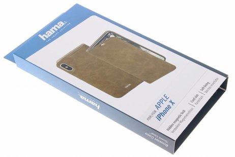 Hama Guard Booktype voor iPhone X / Xs - Bruin