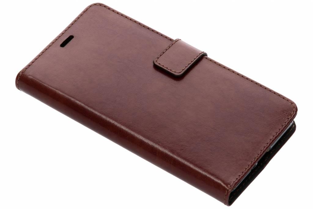 Valenta Bruine Booklet Leather voor de Sony Xperia XZ2
