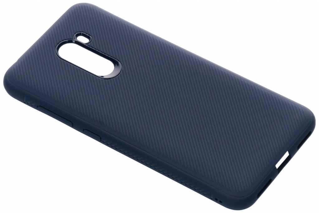 Blauwe rugged siliconen case voor de Xiaomi Pocophone F1