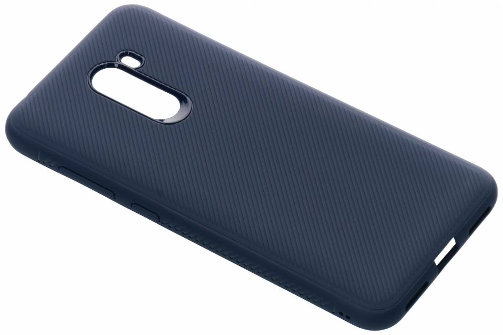 Rugged Softcase Backcover voor Xiaomi Pocophone F1 - Blauw