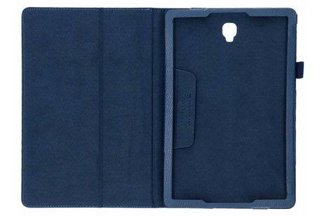 Effen Bookcase voor Samsung Galaxy Tab S4 10.5 - Donkerblauw