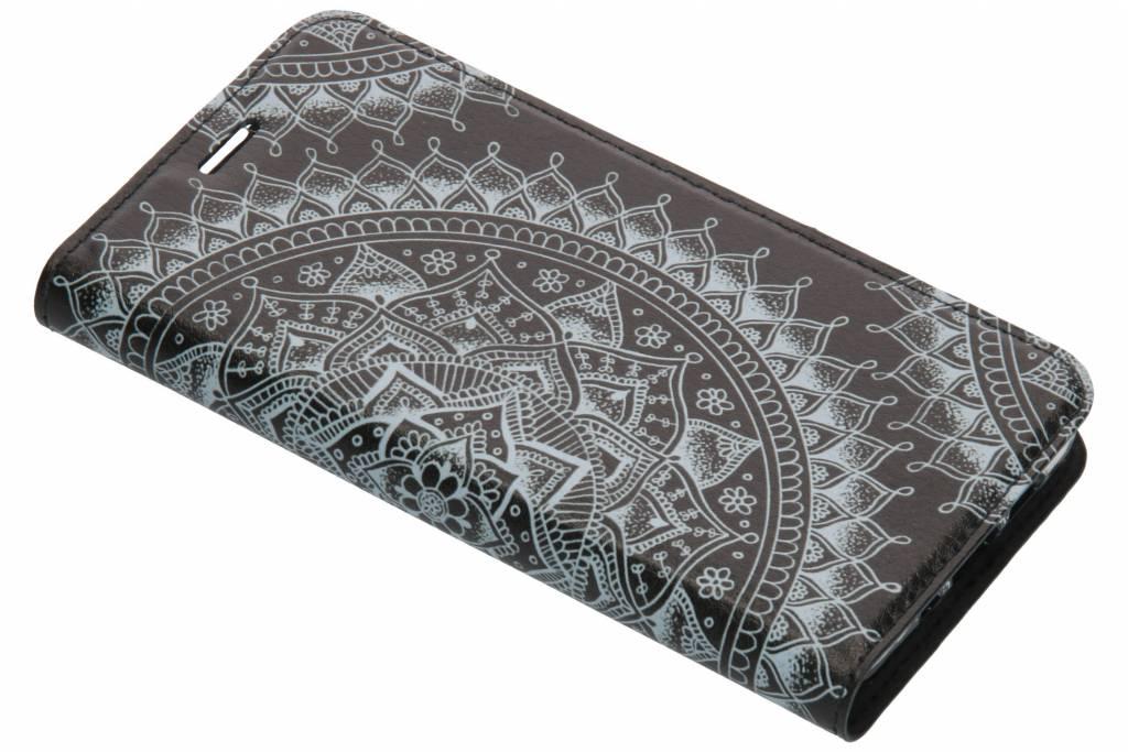 Zwart Mandala Design TPU Bookcase voor de Nokia 3.1