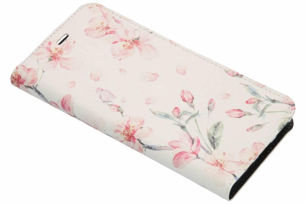 Design Softcase Booktype voor Nokia 5.1 - Bloesem Watercolor