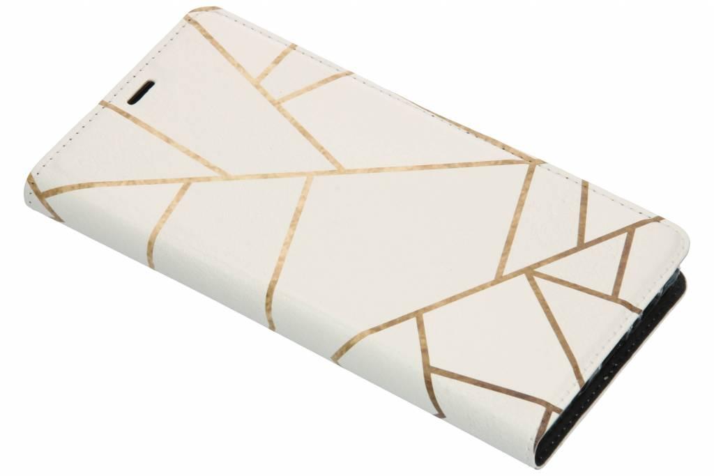 Design Softcase Booktype voor Samsung Galaxy Note 9 - Grafisch Wit / Koper