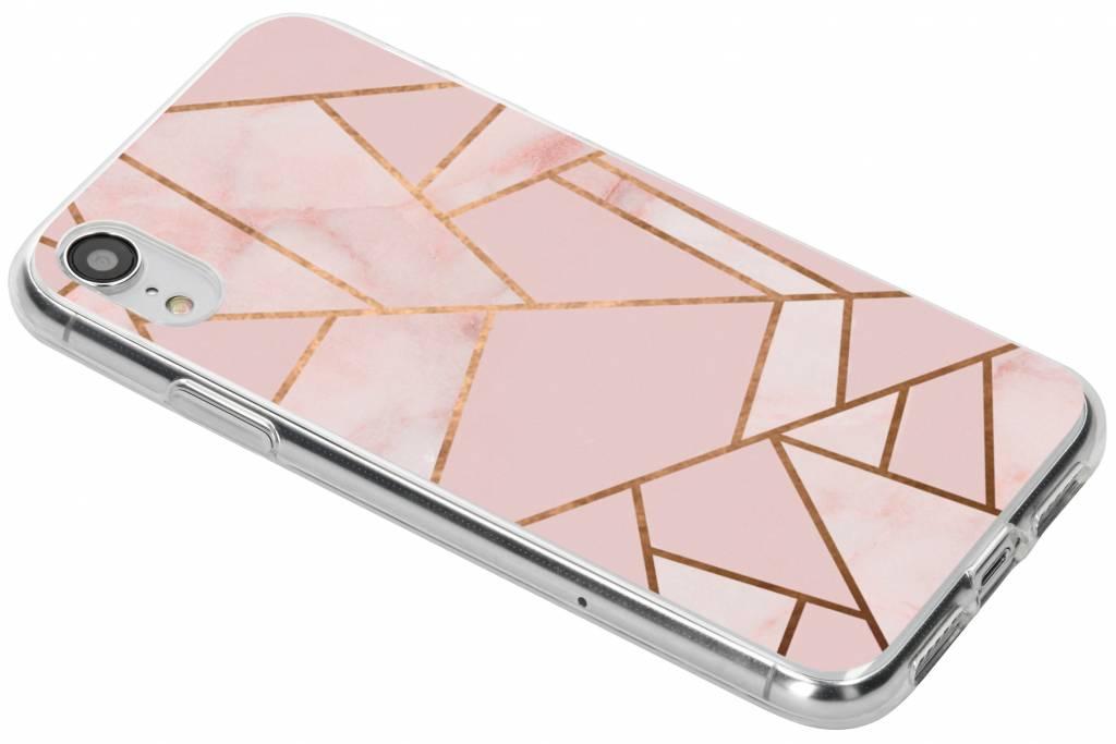 Roze grafisch design siliconen hoesje voor de iPhone Xr