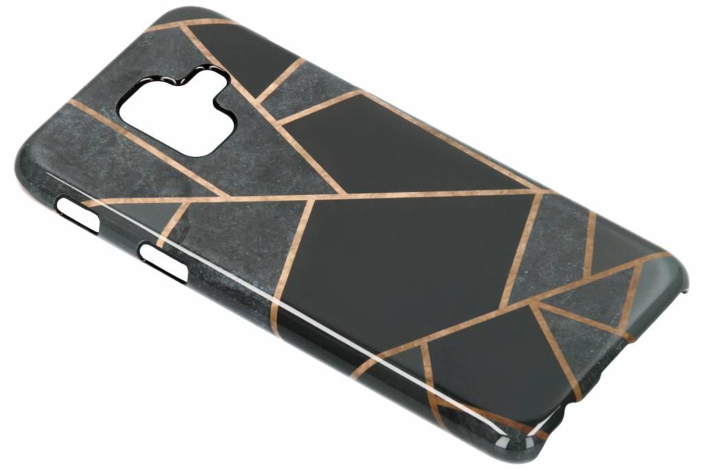 Selencia Black Graphic Passion Hard Case voor de Samsung Galaxy A6 (2018)