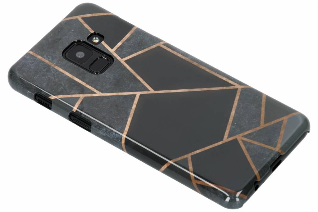 Selencia Black Graphic Passion Hard Case voor de Samsung Galaxy A8 (2018)