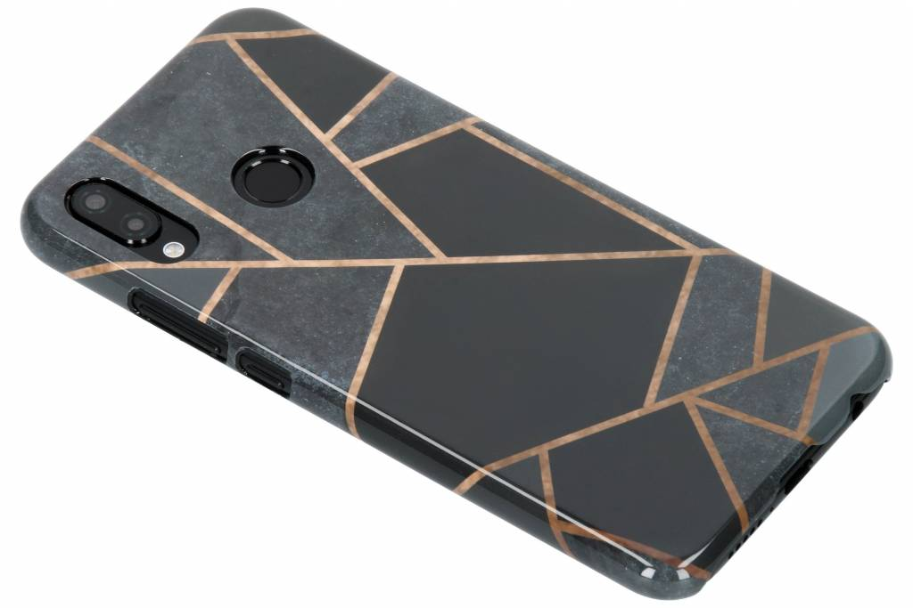 Selencia Black Graphic Passion Hard Case voor de Huawei P20 Lite